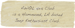 AWOL 4x4 Club 